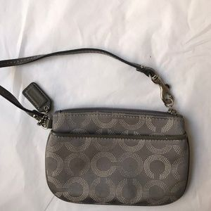 Coach wristlet change purse